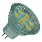 MR11 9 LED Cool White - Glass Covered