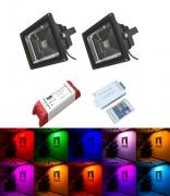 Multi Colour LED Floodlight Kit